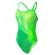Nike Swim Haze Lingerie Crossback Tank Swimsuit Women Electro Green